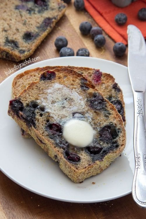 Banana Blueberry English Muffin Bread - Baked by Rachel