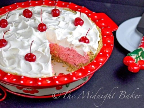 No-Bake Cherries Jubilee Pie   The Midnight Baker