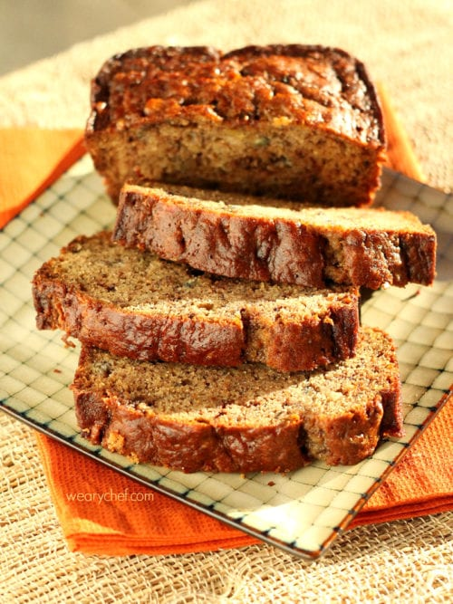 Chocolate Toffee Banana Bread - Julie's Eats and Treats (written by The Weary Chef)