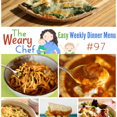 Easy Weekly Dinner Menu #97: Leftover Turkey Recipes and More!