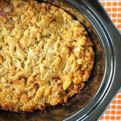 Slow Cooker Gluten Free Cornbread Dressing