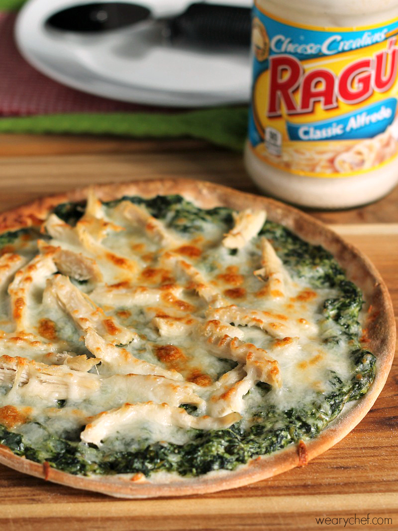 how to cook spinach on a pizza