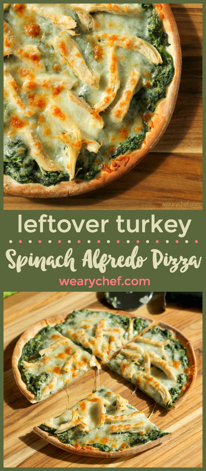 Turn leftover chicken or pizza into a dreamy new dinner with this Spinach Alfredo Pizza recipe! It's ready in under 30 minutes!