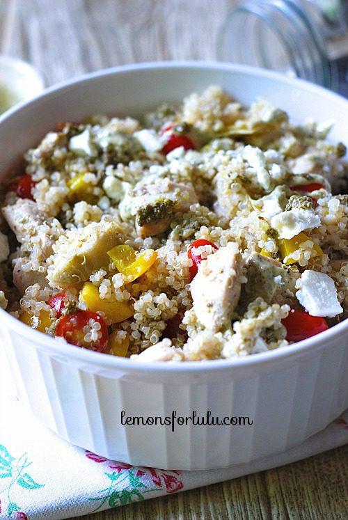 Pesto Ranch Chicken and Quinoa | Lemons for Lulu