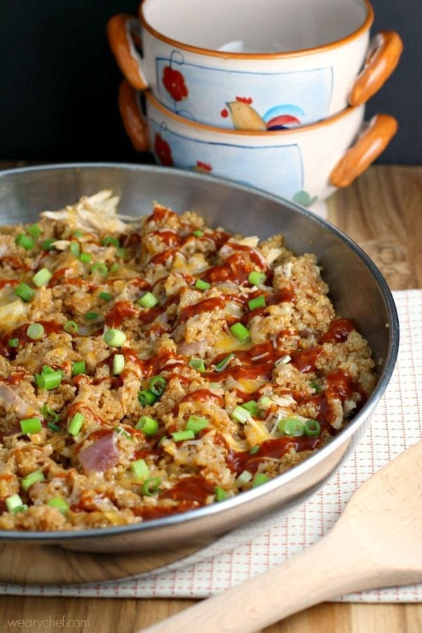 This 30-minute BBQ Chicken Skillet Dinner is so tasty, you'll never know it's good for you!