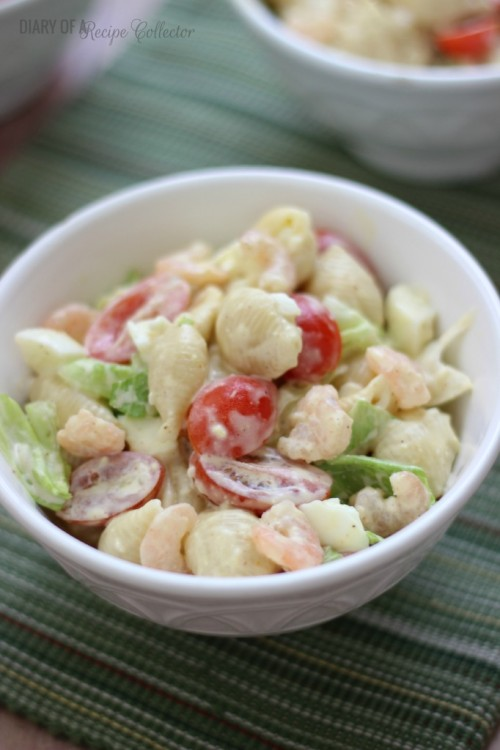 Boiled Shrimp Pasta Salad | Diary of a Recipe Collector
