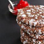 Cherry Chocolate Crinkle Cookies