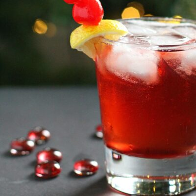 Cinnamon Cherry 7UP Cocktail with Bourbon