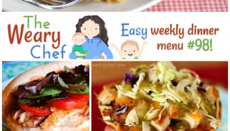 Todays' menu full of easy dinner recipes includes Quinoa Pizza Cups, Lemon Pasta, Tostadas, Skinny Fried Chicken, and lots more!