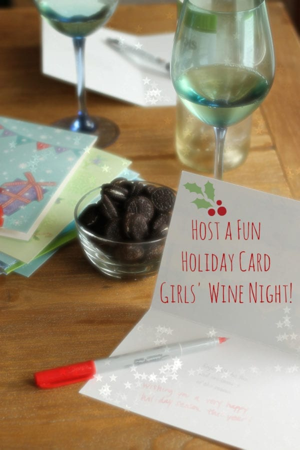 Holiday Card Girls' Wine Night with My Favorite Spinach Dip and a Holiday Pinterest Sweepstakes! #NabiscoHolidayParties
