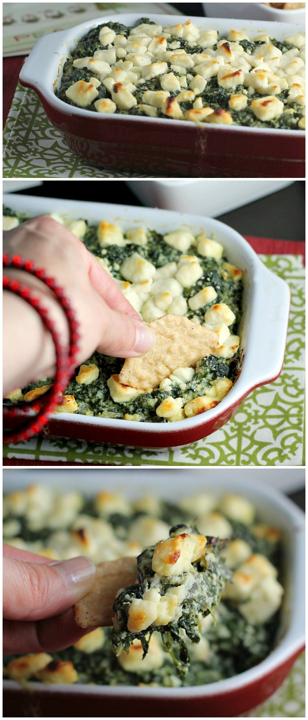 My Favorite Baked Spinach Dip - You won't find mayonnaise in this recipe. Spinach, four cheeses, and a little white wine make up MY favorite spinach dip!
