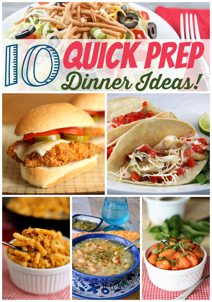 These quick-prep dinner recipes only need a few ingredients and minimal prep or active cooking to get a great dinner on the table!