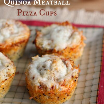 Quinoa Meatball Pizza Cups