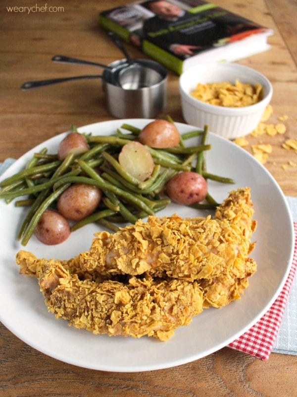 Cornflake Chicken Tenders - Crispy chicken right out of your oven!