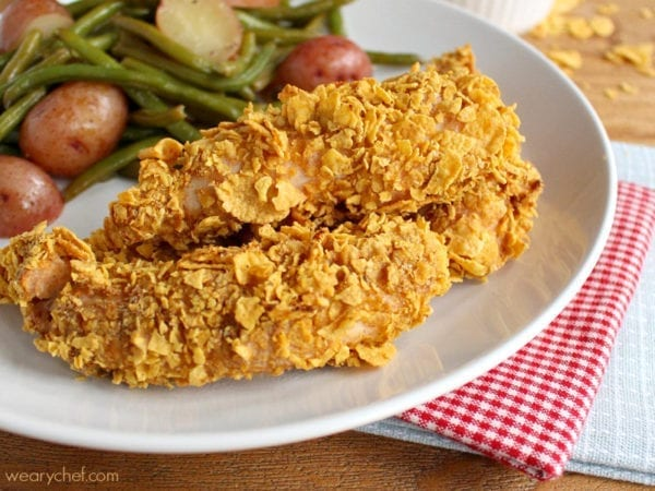 Crispy Oven Cornflake Chicken Tenders