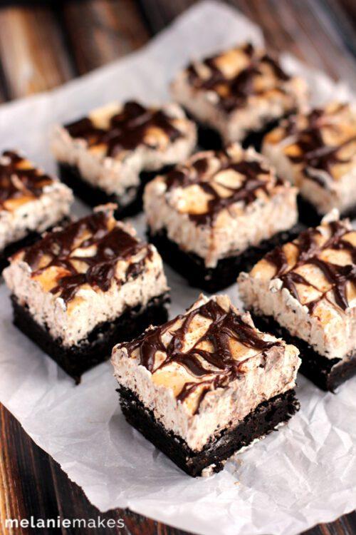 Snickerdoodle Cheesecake Brownie Bars by Melanie Makes