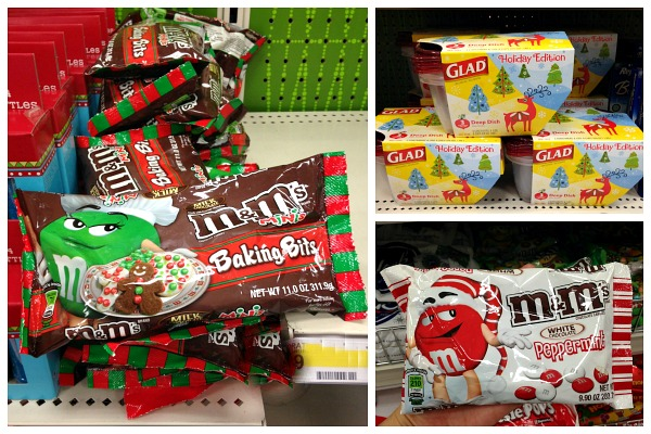 White Chocolate Peppermint M&M's are only available at Target this holiday season! #HolidayBaking