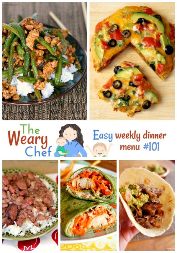 This Easy Weekly Dinner Menu features reader favorite recipes from 2014!