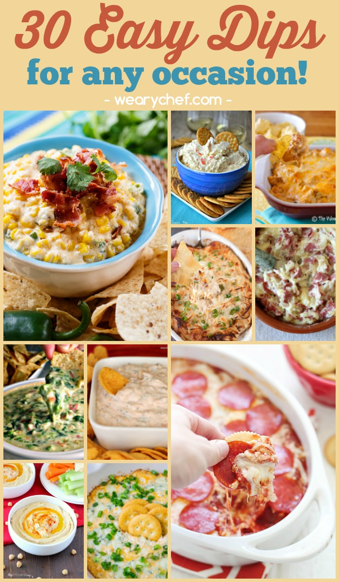 30 Easy Dip Recipes for Any Occasion! - wearychef.com