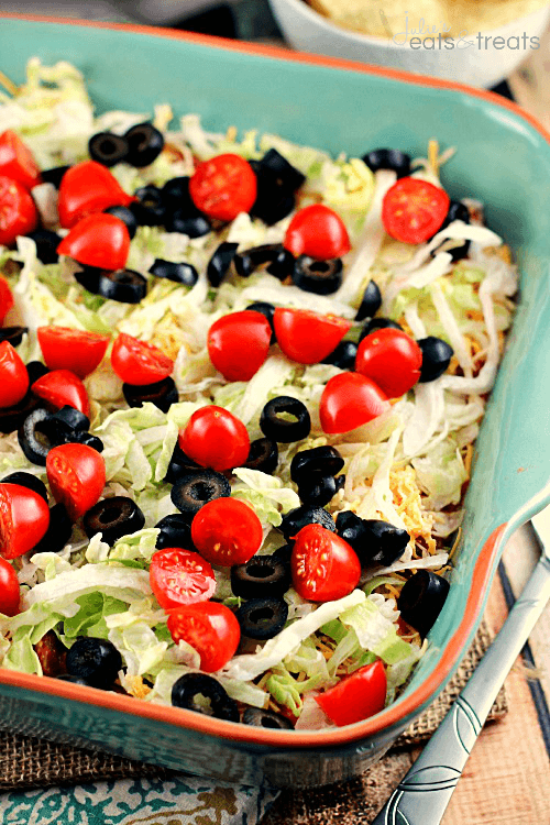 Easy Taco Dip by Julie's Eats and Treats