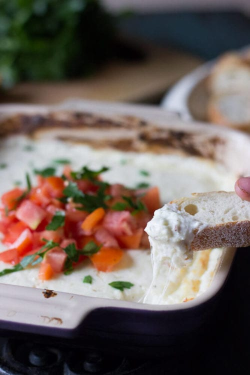 Hot Bruschetta Dip by Lemons For Lulu