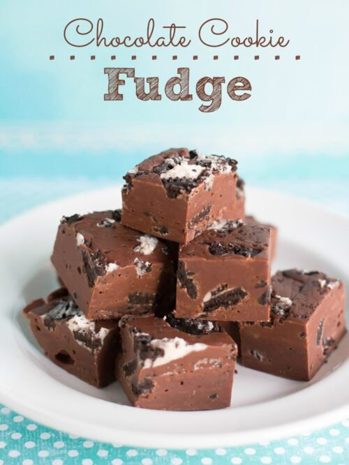 Chocolate Cookie Fudge - This rich, decadent fudge can be made with regular or gluten-free Oreos for a super easy dessert treat!