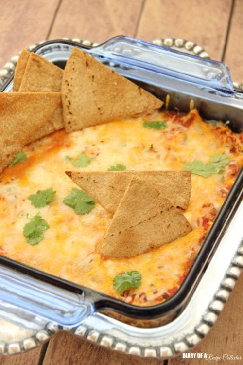 Skinny Chicken Taquito Dip by Diary of a Recipe Collector