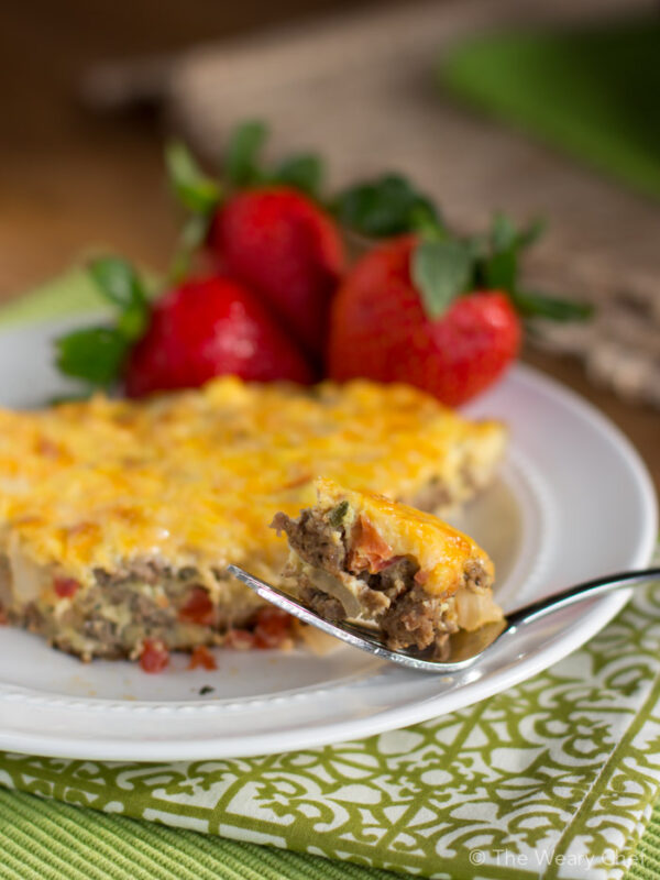 This easy sausage frittata is ready in under 30 minutes and makes a perfect quick breakfast or dinner!