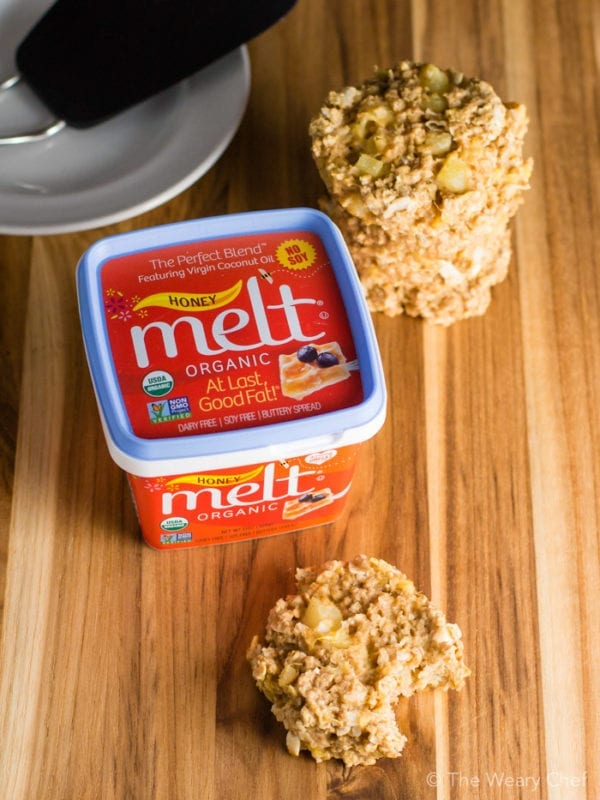 Tropical Oatmeal Breakfast Cookies loaded with pineapple and coconut are dairy free and made with no added sugar! #ButterImprovement