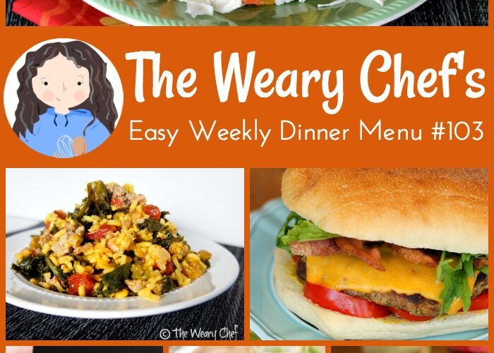 This week's menu of easy dinners features Cajun Shrimp Soup, Artichoke Dip Grilled Cheese Sandwiches, Warm Spinach Salad, and lots more!