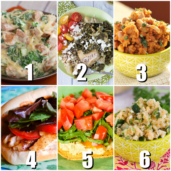 6 Easy Dinner Recipes with Free Meal Planner