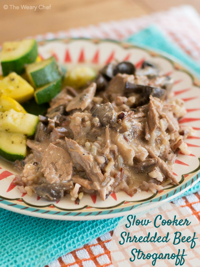 Easy Beef Stroganoff Crock Pot Recipe The Weary Chef