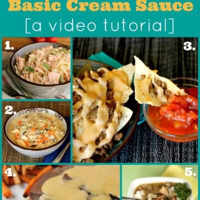 How to Make a Cream Sauce or Gravy: A Video Tutorial