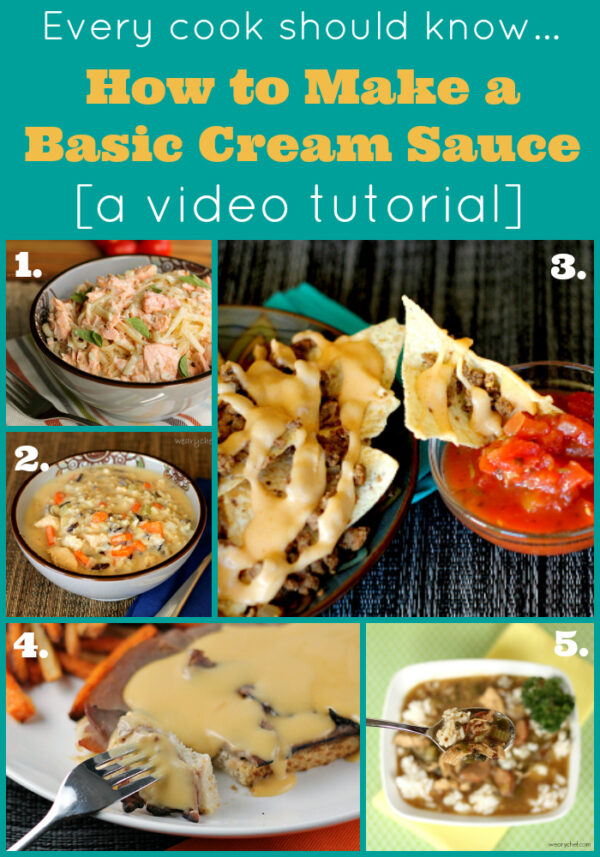 All these recipes start with a basic cream sauce, and I'll show you how to make one with this easy video tutorial!