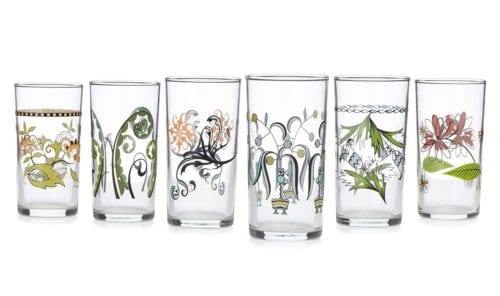 Uncommon Goods: Floral Wine Glasses
