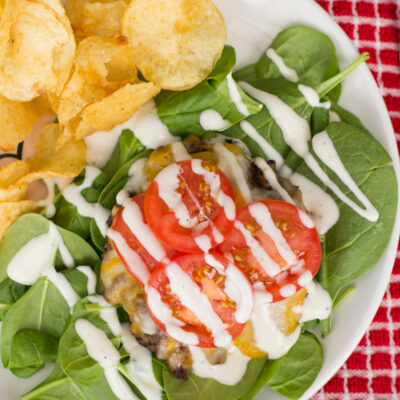 Spicy Cheeseburger Ranch Salad