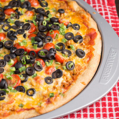 Taco Pizza with Easy Cornmeal Crust