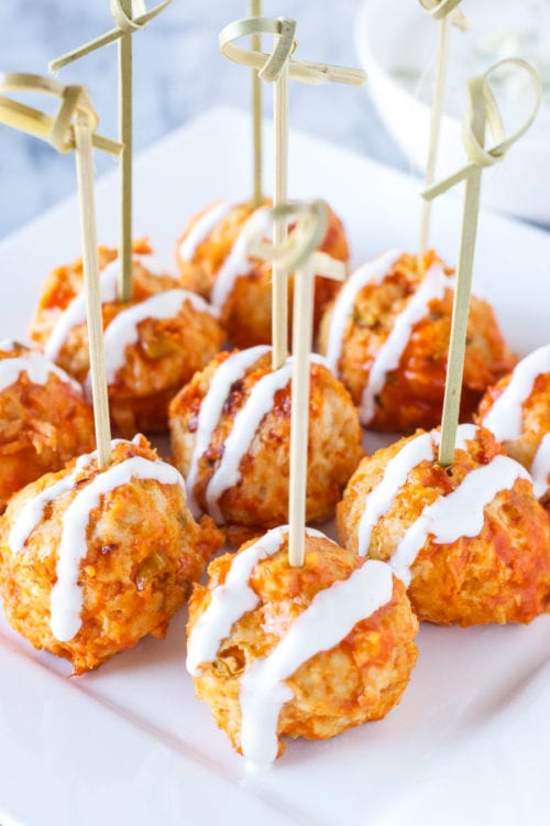 Buffalo Chicken Meatballs | The Recipe Runner
