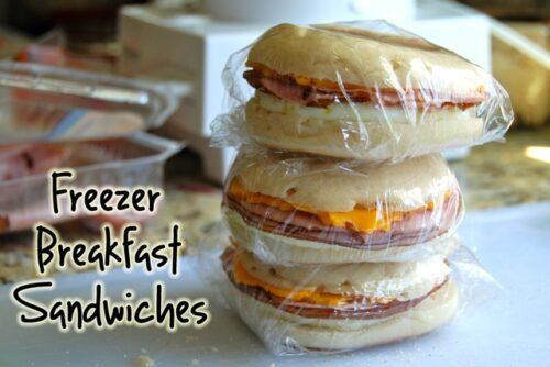 Freezer Breakfast Sandwiches by Flying on Jess Fuel