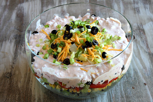 Tex Mex Layered Salad by Recipe Girl