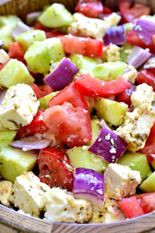 Tomato Cucumber and Feta Salad by Lemon Tree Dwelling