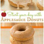 Glazed Applesauce Donuts