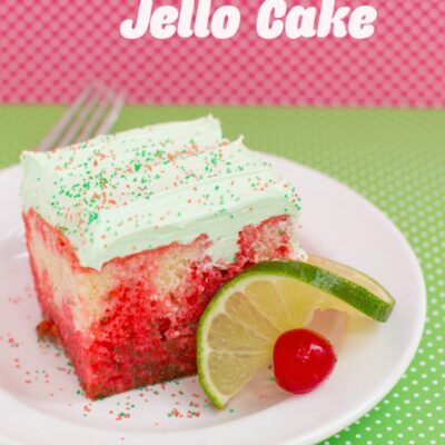 Cherry Lime Jello Cake