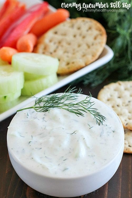 Creamy Cucumber Dill Dip by Yummy Healthy Easy