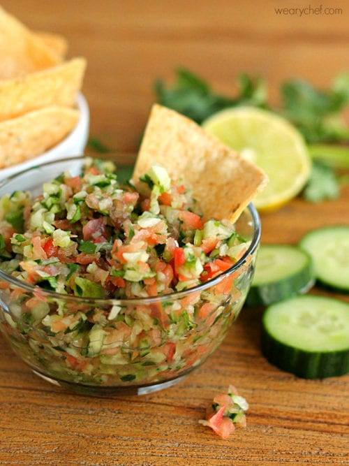 Cucumber Salsa by The Weary Chef