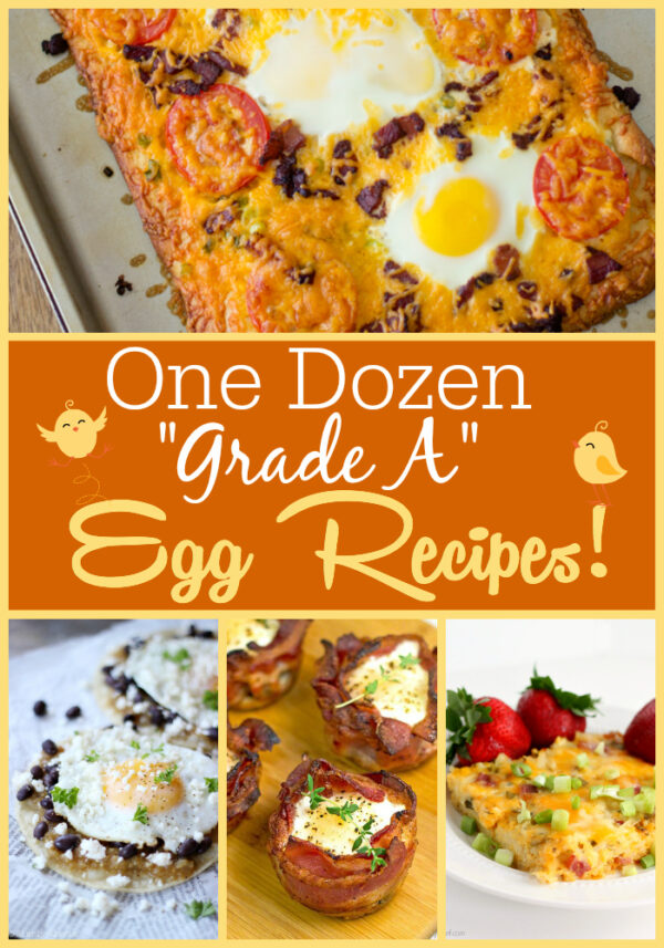 A dozen egg recipes including frittatas, breakfast cups, egg salad, and more!