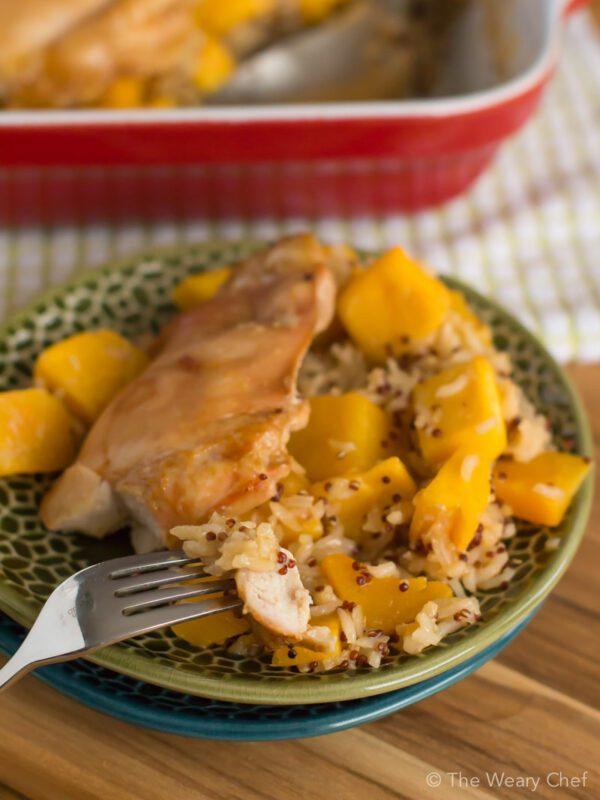 Honey Baked Chicken over Lemon Rice - A healthy, hearty, easy dinner!