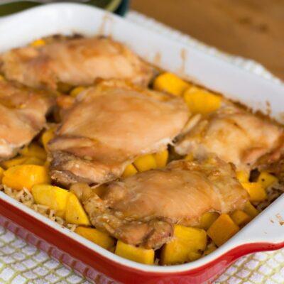 Honey Baked Chicken over Lemon Rice