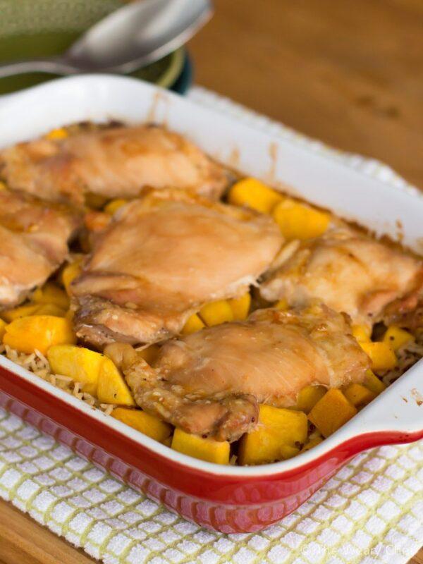 Honey Baked Chicken over Lemon Rice - A healthy, heart, easy dinner!