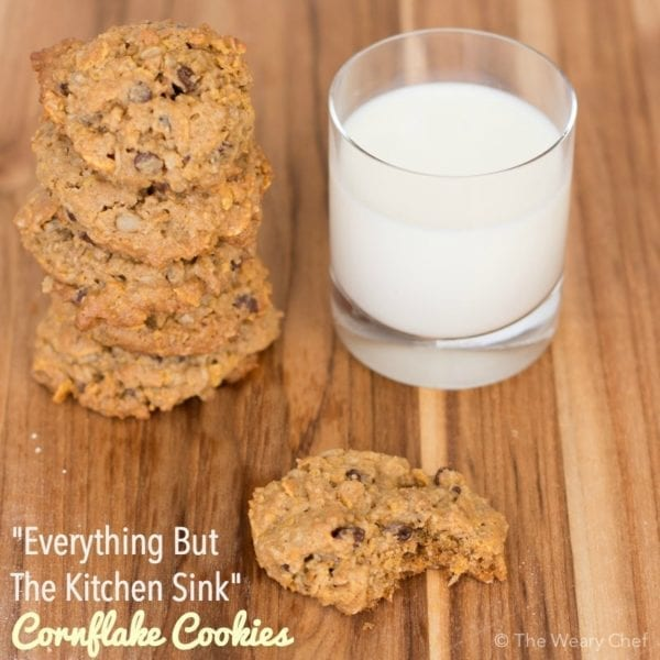 These Cornflake Cookies with oatmeal, sunflower seeds, chocolate chips, and more have something for everyone!
